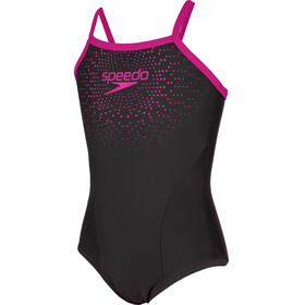 speedo Gala Logo Thinstrap Muscleback Swimsuit Mädchen black/electric pink
